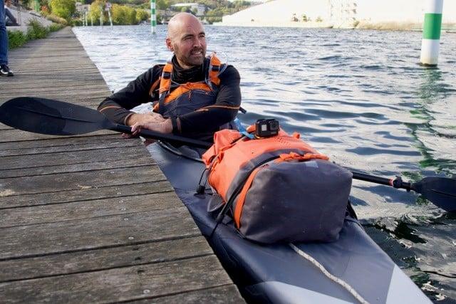kayakiste peniche du coeur Stéphane